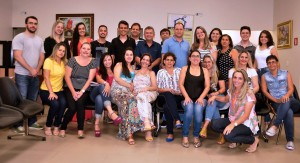 turma no final do curso - Caldas Novas